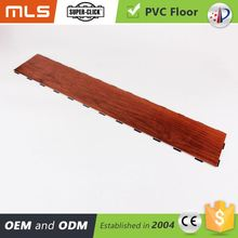New Product Click System Pvc Walnut Color Laminate Flooring
