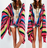 wholesale SERAPE KIMONO,WOMEN SERAPE PRINT PATTERN CARDIGAN FOR SUMMER,LADIES PLU SIZE ONE SIZE US SIZE KAFTAN
