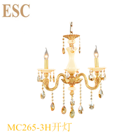 French crystal copper chandelier