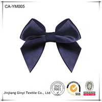 CHEAP solid color butterfly shape ribbon flower