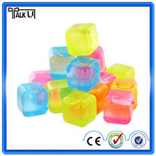 Recycling food grade icy cools plastic custom reusable ice cube for drinks for bar