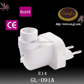 hot sale good quality e14 caliber lamp holder with switch