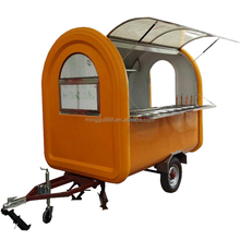 Snack ambulant remorque mobile used outdoor hand push hot dog rickshaw food cart
