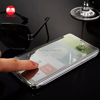 2016 New Arrive Luxury Plating Touch Sensitive Clear View Smart Flip Mirror Case for Samsung Galaxy Note 4