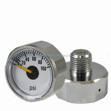 "23mm 1/8"" NPT 0-100psi Mini Tank Back Connection Pressure Gauge"
