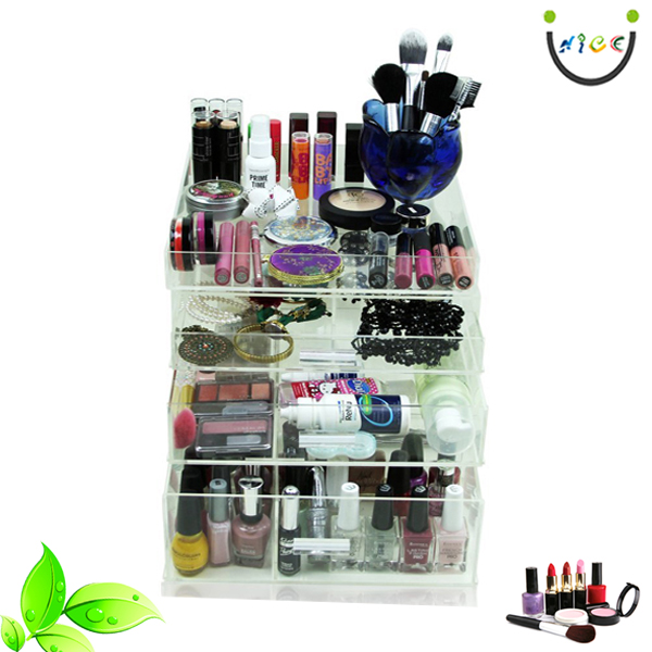 Cosmetics Make Up Jewelry Storage Organizer Case Display Boxes Perspex Perfume Organizer