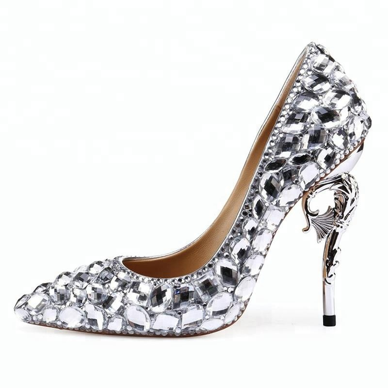 bc378114 ... noche Club zapatos de fiesta Sexy señoras extrema de tacón alto zapatos  de plataforma bombas. 0 vendidos. Las mujeres de plata diamante partido  vestido ...