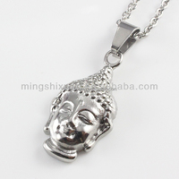 Wholesale newest design antique stainless steel casting buddha charm
