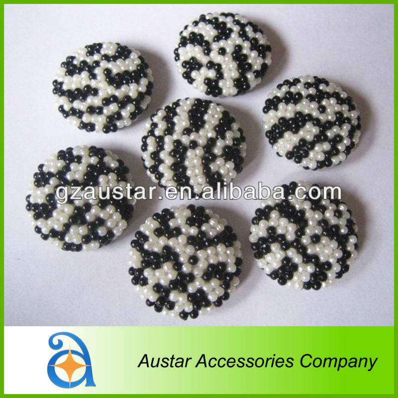 Decorative leopard beads buttons for garment clothes decoration,shoe accessory