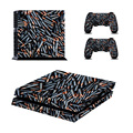Cool style dense bullet design for sony playstation for ps4 console skin sticker