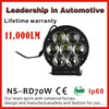 "LED Work Light 6"" Inch 70W 12V 24V Spot Flood Lamp for Tractor Truck Trailer SUV JEEP Off roads Boat 4WD 4x4"