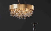modern colourful crystal chandelier luxurious beautiful pendent light