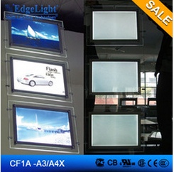led crystal light box series chain with steel wire curtain design