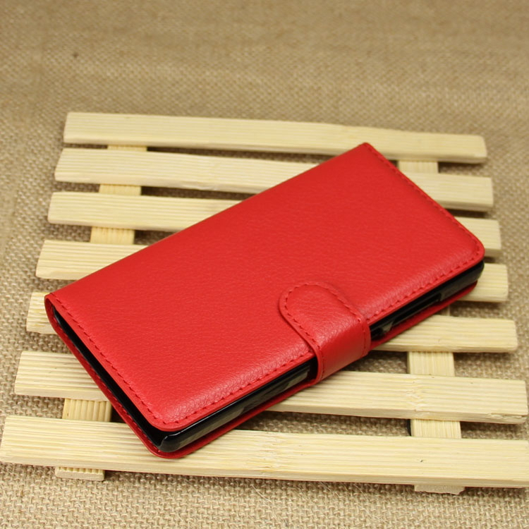 Factory hot sale flip leather cover for huawei honor 3c