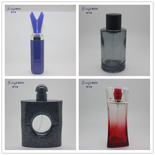 factory quality unique shape 100ml car perfume bottle with flower cap