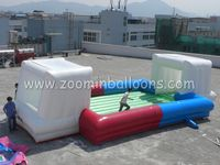 Professional design Single Layer Bottom inflatable football field on sale Z5031