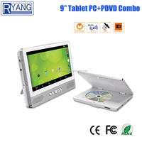 9 Inch portable tablet pc DVD CD player with TV tuner