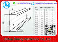 Prices Steel Beam C Z Purlin Cold Roll Forming c shape frame machine