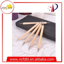 Wood and plastic handle Acrylic Nail brush Art Design Dotting Pens/ tools /brush