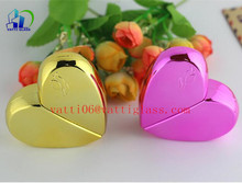 25ML Wholesale Shining Colored Heart Shape Glass Refill Empty Perfume Atomizer Spray Bottle