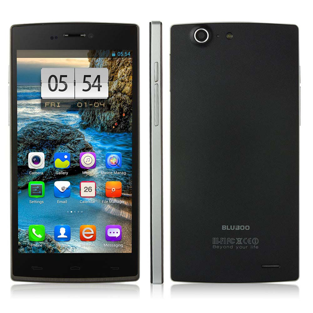 BLUBOO X2 Smartphone MT6592 5.0 Inch IPS OGS 7.6mm Slim 1GB 16GB Android 4.2 OTG - Grey