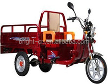Bajaj three wheel closed driving cab motor tricycle with cargo box