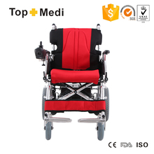 TOPMEDI 2016 new model aluminum folding handicapped electric wheelchair