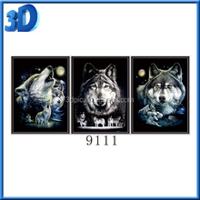 3d Lenticular Art Picture Print Wall Decor 3d Image of wolf