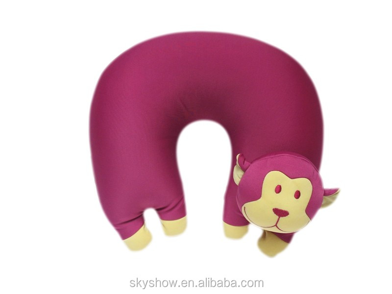 Alibaba Supply Hot Sale Animal Funny Microbeads Filling Neck Pillow