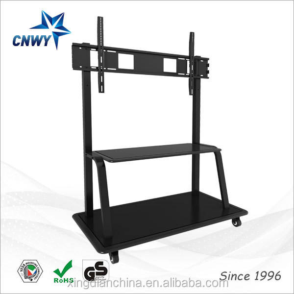 maxim led tv stand model with four wheels for all-in-one touch