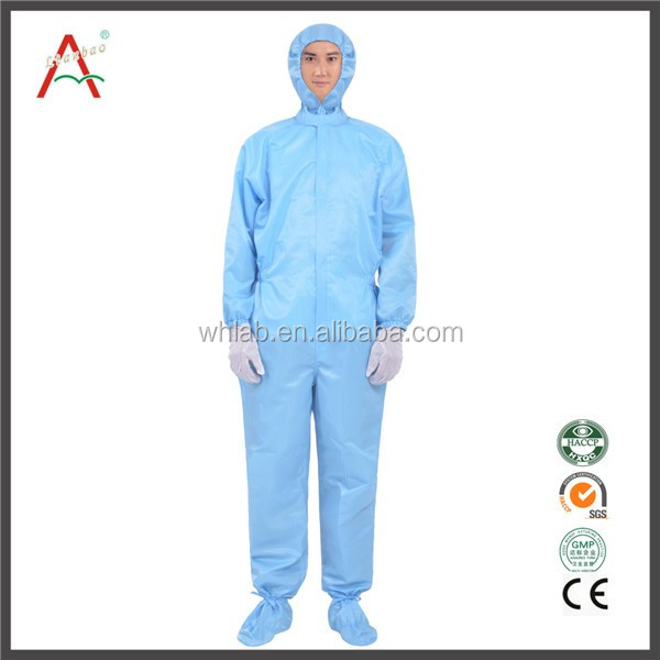 Clean Room Blue Uniform for Food Factory
