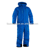 Men ski suit waterproof one piece snow wear