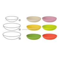 Solid Color Bamboo Fibre Plate,Melamine Plastic Plate