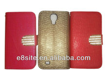 Galaxy S4 i9500 Bling Luxury Wallet Leather Case