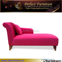 Red fabric cheap indoor chaise lounge furniture PFS1574