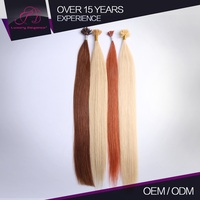 Natural And Beautiful Fresh 100% Natural Human Hair Russian Pre Bonded Hair Extension