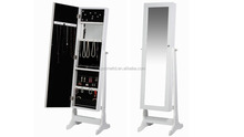 Jewelry mirrored cabinet , Room furniture sets , Jewelry display and storage