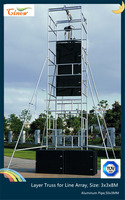 H Style Layer Truss, Outdoor Concert Galvanized steel layer truss, Speaker Stands