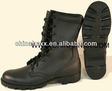 Full-grain cow leather good quality rubber sole army boots
