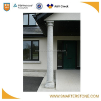 The support of house luxury pillars and columns in marble