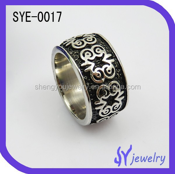 2015 design bulk sale jewelry spikes stainless steel ring