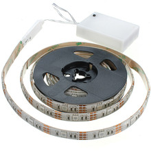 SMD 5050 4.5V / 9V / 12V Remote Controlled Small Battery Powered Operated Flexible Led Strip Light