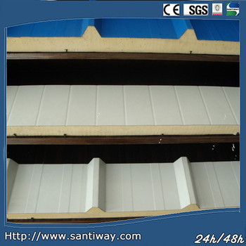 Steel Sheet PU Sandwich Panels for Wall and Roof SANTIWAY-009B