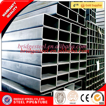 China gold supplier hot dip galvanized square steel pipe factory in China