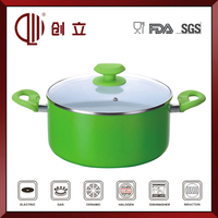 non stick aluminum ceramic couscous stock pot