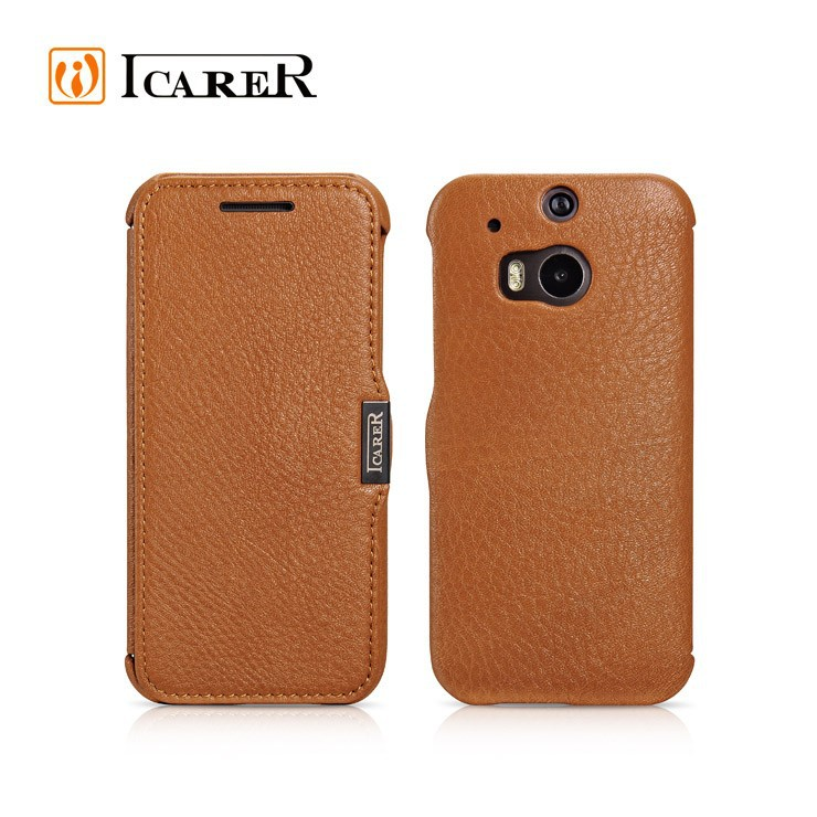 icarer genuine wallet Leather Case For HTC ONE M8