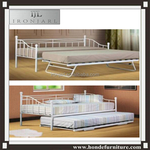 folding metal frame guest bed with trundle