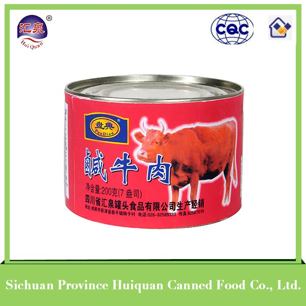 2015 hot selling types canned food products corned beef
