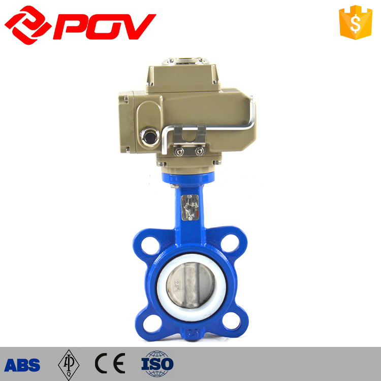 PTFE seat electric water shut off valve