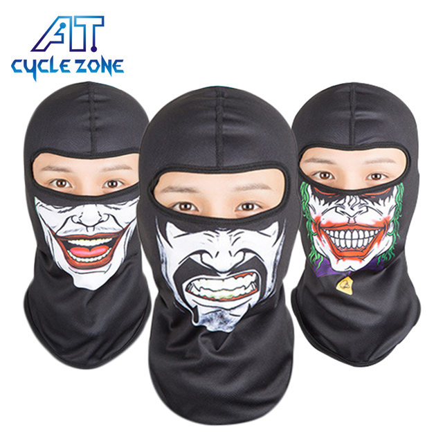 CYCLE ZONE Brand Training mask Cool Bicycle Cycling Black color Airsoft Skull picture Full Face Mask Warm Thermal Cover Cap
